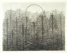 Max Ernst: Forest and Sun, 1931, graphite frottage on paper https://carpetmoss.wordpress.com/2011/03/24/project-using-texture/