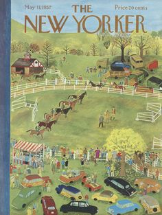 The New Yorker - Saturday, May 11, 1957 - Issue # 1682 - Vol. 33 - N° 12 - Cover by : Ilonka Karasz