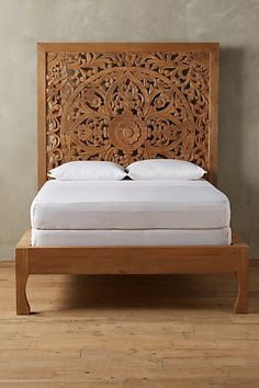 "Anthropologie Lombok Bed, $2,700 for queen. Can take a box spring, looks like? 85""H, 70""W, 87.5""D"