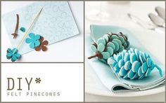 DIY Sweet Felt Pinecones - Modern Party Ideas