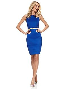 Midi Bandage Sheath Dress - Sullivan Blue   - New York & Company. Great site with cute affordable clothes and frequent really good sales!