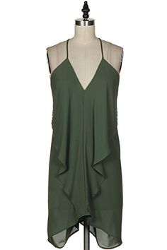 Olive Flowy Dress from Gypsy Outfitters