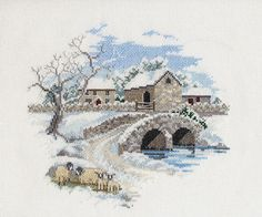 Derwentwater Designs WINTERBOURNE FARM Cross Stitch Kit SALE - FREE P&P
