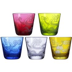 Shop for the Ignis no. 90 dragon tumblers, size M by Rotter Glas at Artedona. In China, Rotter Glas, Dragon Pattern, Asian Decor, Gadgets And Gizmos, Glass Jars, Dinnerware, Shot Glass, Glasses