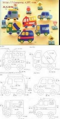DIY Felt Cars and Trucks - FREE Pattern