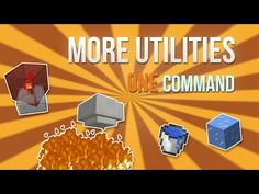 Minecraft - More Utilities in one command! - YouTube