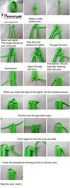 A quick deploy version of the fishtail paracord bracelet. A tutorial.