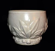 McCoy Art Pottery Stoneware Jardiniere   Matte by ChicMouseVintage