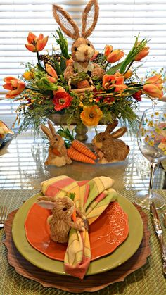 Kristen's Creations Easter Tablescape