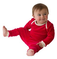 Organic Cotton Velour Pajama Set | Castleware: Organic Fabric Baby Clothes and Blankets