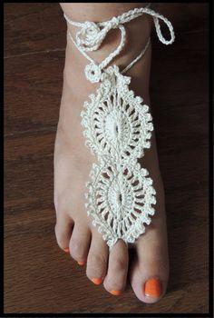 Crochet : Adorno para el pie (Barefoot) #  2