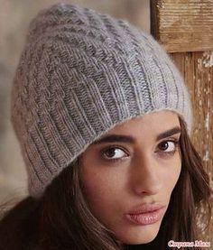 Стильная шапочка от Ashley Rao (Vogue Knitting, Fall 2014) вязаная спицами