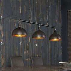 Suspension style industriel tuyau noir 3 lampes ARTO