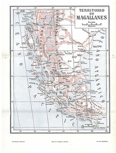 Map Of Argentina And Chile Maps Pinterest Argentina Panama - Argentina map vintage