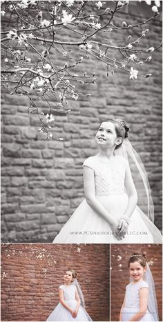 Communion Poses & Images to show the soft spring. Yardley Communion Photo  by PCS Photography  Communion Inspiration | Communion Posing | Communion Photography
