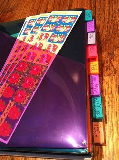 Sticker organization binder... I'M TOTALLY DOING THIS.