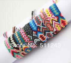 Hippy boho surf wristband mens ladies jewellery Embroidery cotton FRIENDSHIP BRACELET