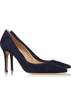 Gianvito Rossi - 85 Suede Pumps - Midnight blue - IT34.5