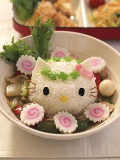 Cute Hello Kitty Chinese-style donburi
