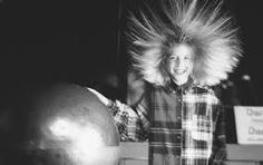 Image result for images of static electricity in hair