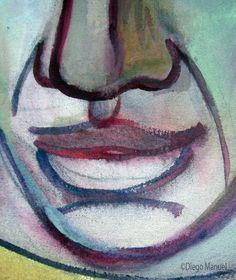 Picasso en la maquina genetica duplicadora, acrylic on canvas, 43 x 61 cm. Year 2007. Pintura en venta de la Serie Retratos. Painting for sale of the Series Portraits.