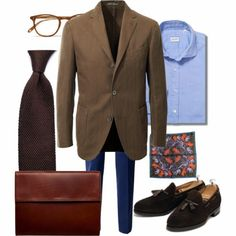 dresslikea:  DLA summer monday. Sport coat: Boglioli Trousers: Dondup Shirt: Glanshirt PS: Drake's London TiePortfolio: BergBergTassel loafers: Meermin