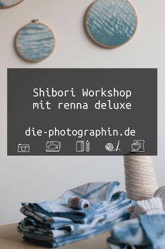 Shibori Workshop mit renna deluxe in Wiesbaden - Increase Creativity Shibori, Lettering, Indigo, Blogging, Challenge, Events, Creative, Paper, Workshop Ideas