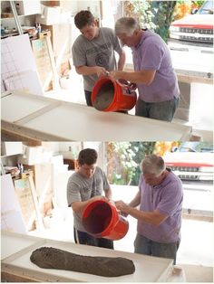 DIY Concrete Countertops - how to build forms  pour concrete correctly. then mix mineral oil  wax to finish.