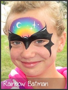 rainbow face painting by mimicks