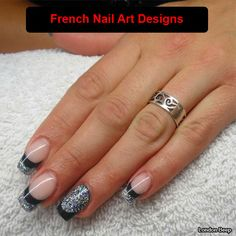 French nails Pictures to help you choose the nail design Pretty Nail Colors, Pretty Nail Designs, Pretty Nail Art, French Manicure Designs, Acrylic Nail Designs, Nail Art Designs, Nails Design, Acrylic Nails, French Nail Art