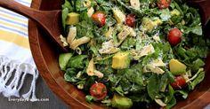 Avocado chicken spinach salad - Everyday Dishes & DIY
