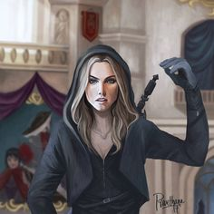 ADARLAN'S ASSASSIN. This is such a fantastic Celaena Sardothien art By titan_lenaria on Instagram