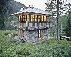 Judith Mountain Cabin in Montana, cool cabin designed to look like a fire lookout tower. [600x481] : CabinPorn