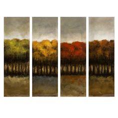 The Four Seasons Four Canvas Oil Painting