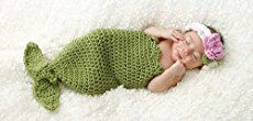 Mermaid Tail Cocoon and Headband | Free Crochet Pattern – Sunset Family Living