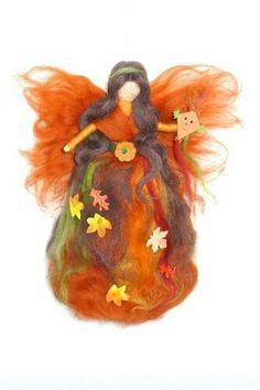 Fatina Wool Dolls, Felt Dolls, Wet Felting, Needle Felting, Felt Fairy, Toy Craft, Fairy Dolls, Book Of Shadows, Felt Animals