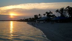 Sunset at Cape Coral Yacht Club Beach.