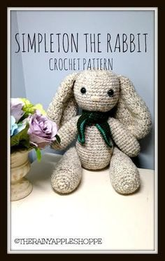 Simpleton the Rabbit Free Amigurumi Pattern http://craftbits.com/project/easter-crochet-pattern-simpleton-the-rabbit/ ༺✿ƬⱤღ https://www.pinterest.com/teretegui/✿༻