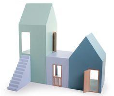 Paper house cardboard houses Puppenhaus dann mal schlicht!