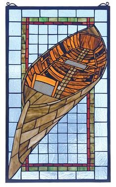 Meyda Tiffany 21439 X Guideboat Stained Glass Window Stained Glass Lamps, Stained Glass Designs, Stained Glass Panels, Stained Glass Projects, Stained Glass Patterns, Mosaic Glass, Mosaic Art, Fused Glass, Mosaic Mirrors