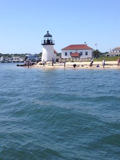 """""""Brant Point Light"""" is a famous lighthouse located on Nantucket Island. The station was established in automated in and is still in operation. Famous Lighthouses, Point Light, Nantucket Island, Places In America, 7 Continents, Just Dream, Martha's Vineyard, Island Resort, Being In The World"""