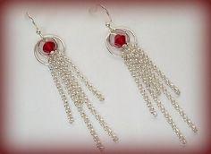 Swarovski Red Crystal Earrings Circle of Love  by DancingRainbows, $16.00 USD