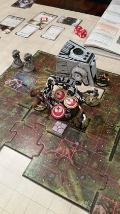 """Brushfire"" We boxed in the AT-ST and loaded it up with explosives. #imperialassault"