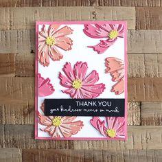 Flower Stamp, Flower Cards, Cosmos Flowers, Altenew Cards, Handmade Birthday Cards, Handmade Cards, Marker Art, Making Ideas, Cardmaking