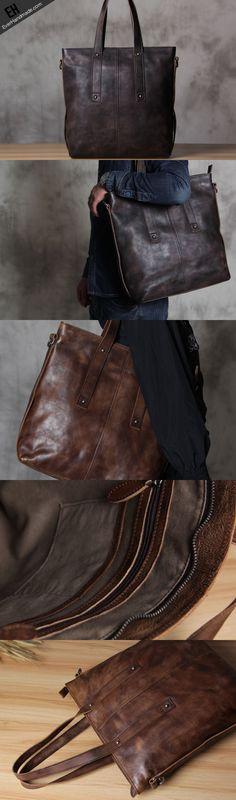 Handmade Leather handbag purse tote shoulder bag for women