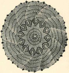 Салфетка 11 .  Э.Критеску 'Художественное вязание спицами'