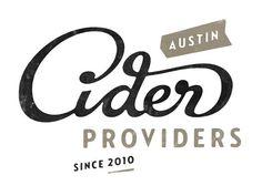 Austin Cider Providers Logo Design by Simon Walker Typography Letters, Graphic Design Typography, Lettering Design, Branding Design, Hand Typography, Corporate Branding, Logo Branding, Brand Identity, 2 Logo