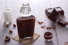 Chocolate liqueur is surprisingly super easy to make! Drink it straight, with coffee, drown your salted caramel ice cream in it or. Best Fondue Recipe, Fondue Recipes, Cake Recipes, Recipe To Make Chocolate, Chocolate Recipes, Chocolate Liqueur, Chocolate Fondue, Salted Caramel Ice Cream, Recipe Center