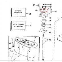 Retentor Bomba D'Agua Johnson / Evinrude 9.9 / 15 HP