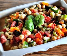 Summer Chopped Salad with Garbanzo Beans